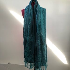 Turquoise H&M pashmina style scarf